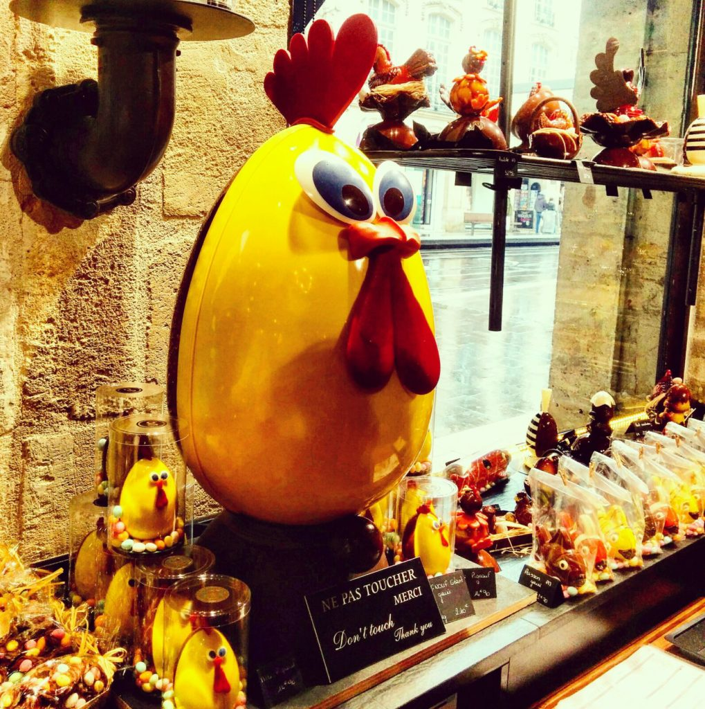 Huge chocolate egg, easter in Bordeaux