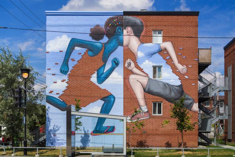 wall paintings in Montreal by SETH