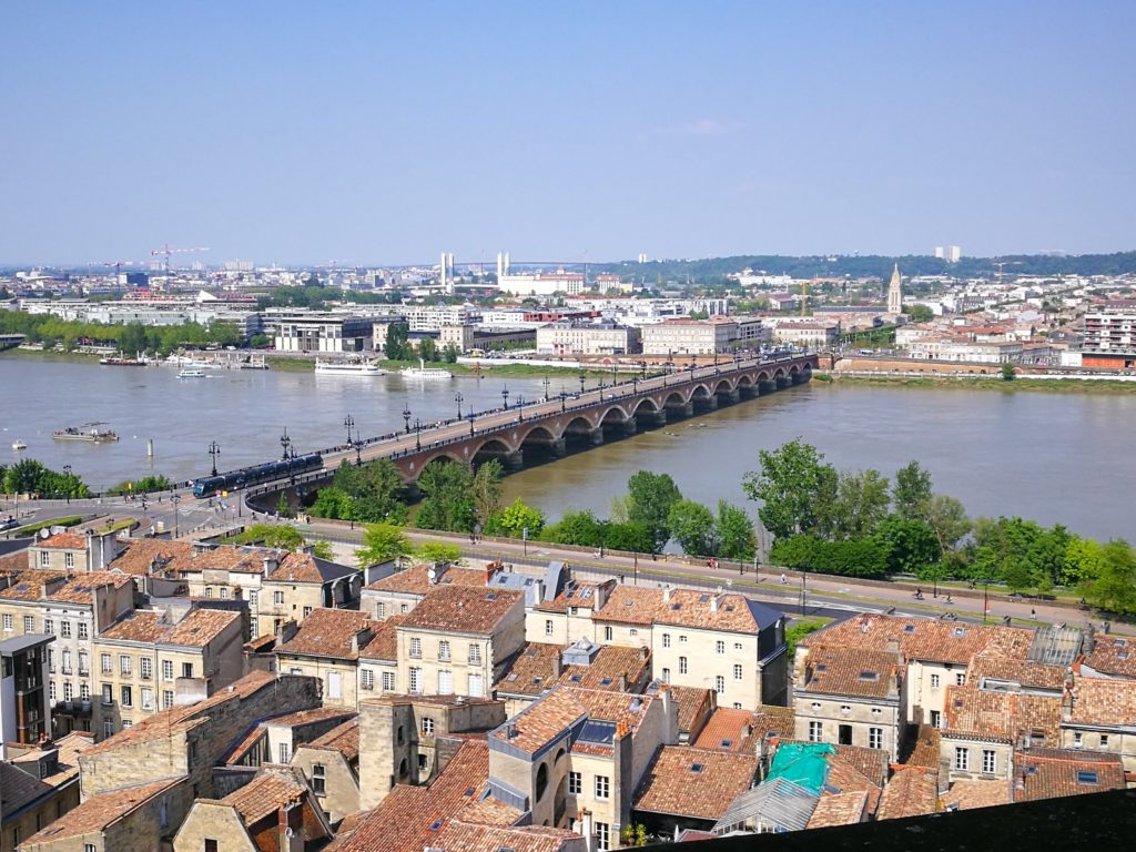 View of Bordeaux from the bell tower of Saint Michel