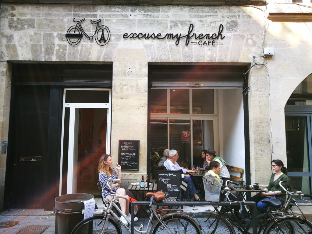 excuse my French cafe in Bordeaux