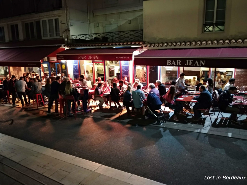 night life around the market in Biarritz