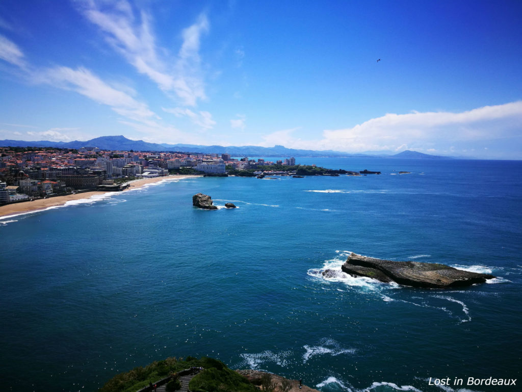 The view from Biarritz's lighthouse