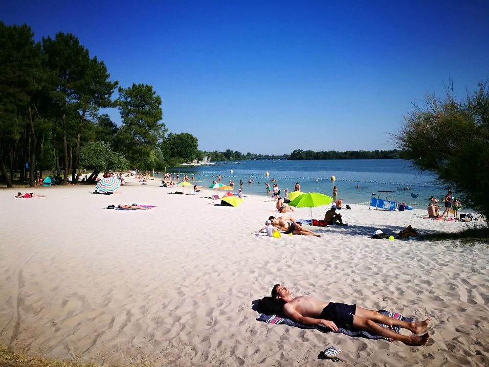 plage du lac Bordeaux