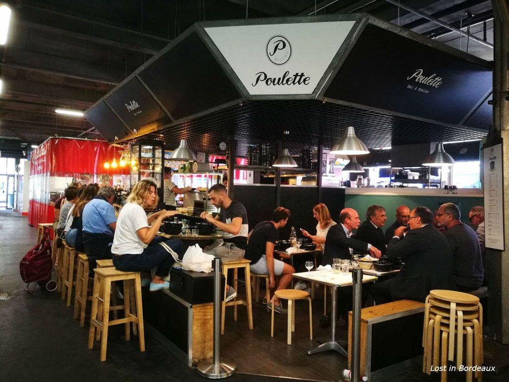 Bistro Poulette Capucins market in Bordeaux