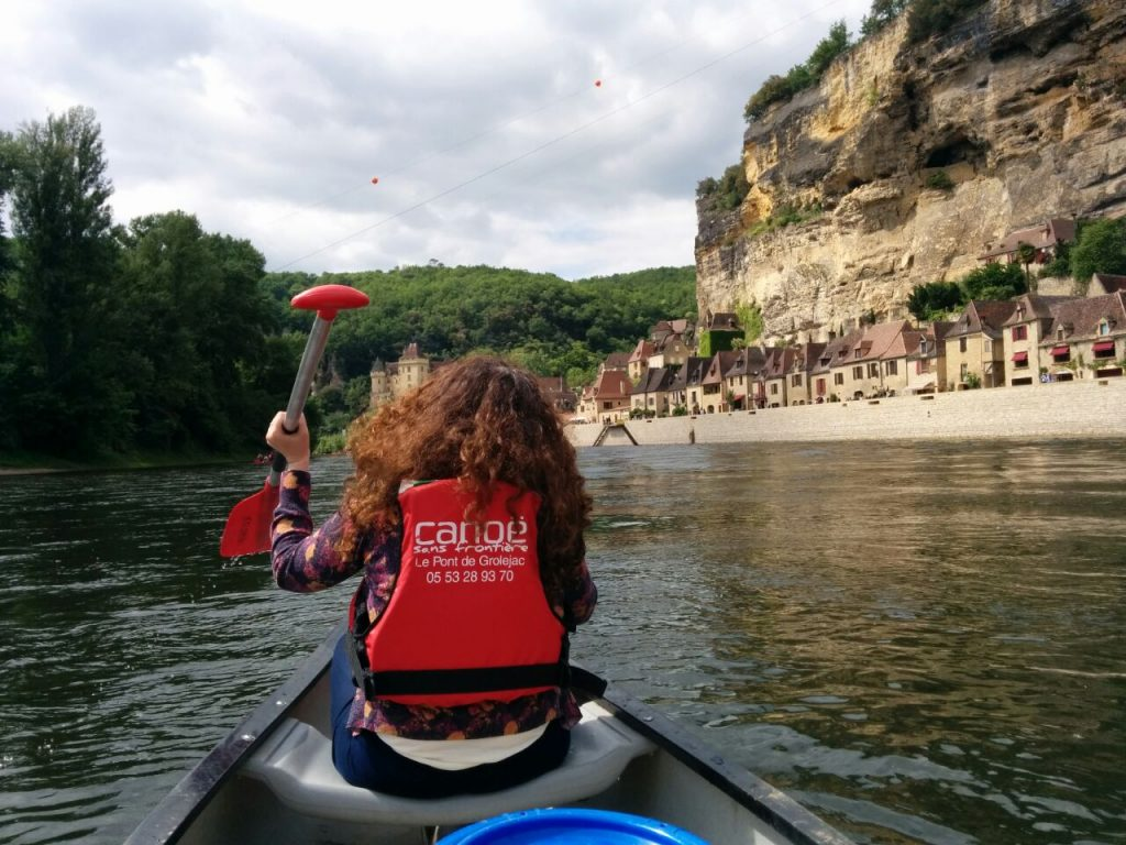 Canoeing on the Dordogne river