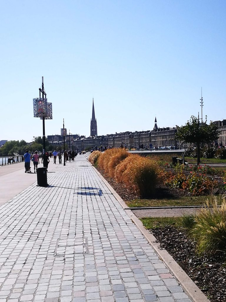 the riverfront of Bordeaux