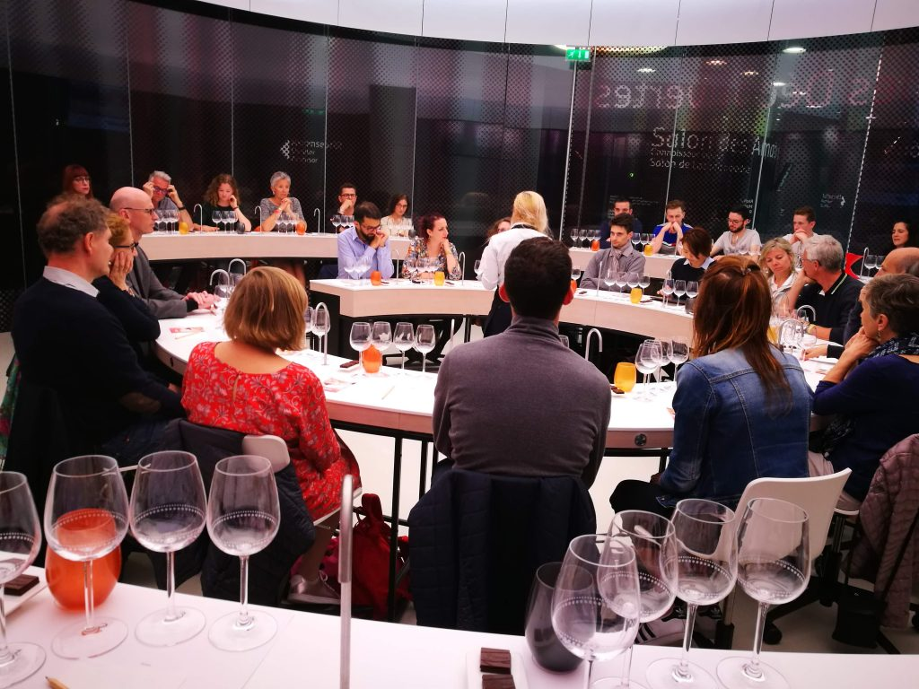 Wine tasting workshop at the cite du vin