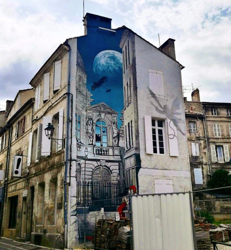 memoire du xxeme ciel - street art Angouleme