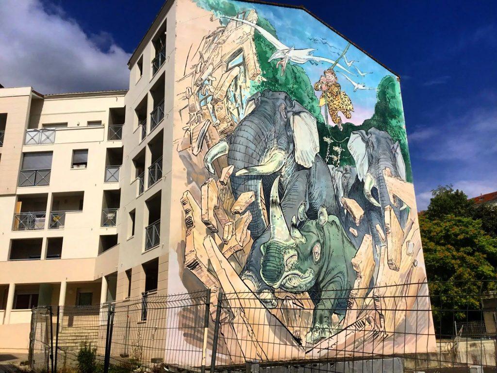 Chassez le Naturel - François Boucq - mural in Angouleme